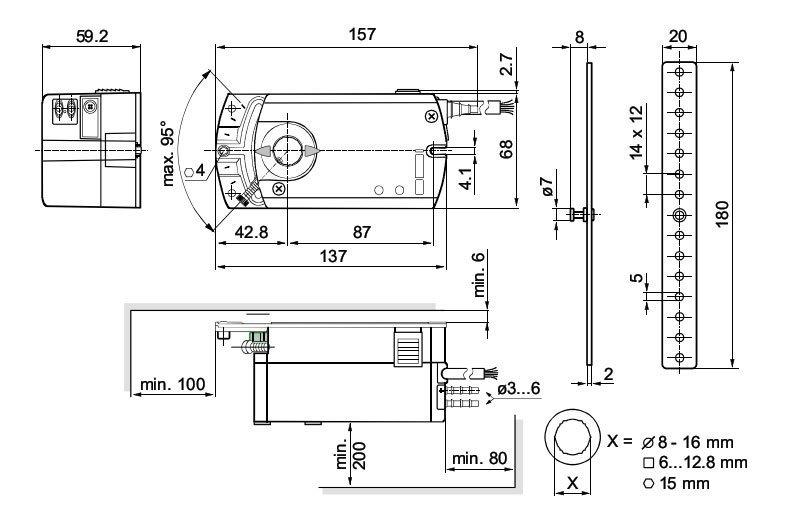 Привод воздушной заслонки GSD321.1A | Cистемы вентиляции и ...