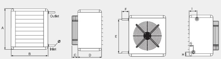 Размеры тепловентилятора FHW12