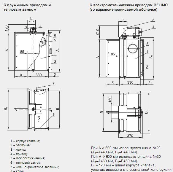 Схемы конструкции КЛОП-1В