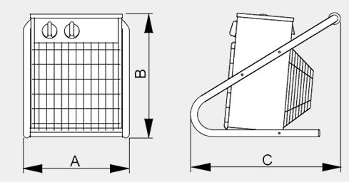 Размеры вентилятора PROFF 2