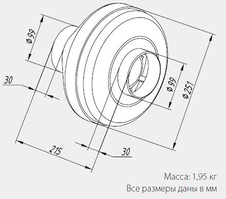Размеры вентиляторов WNK 100/1