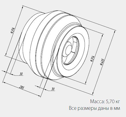 Размеры вентиляторов WNK 315/1